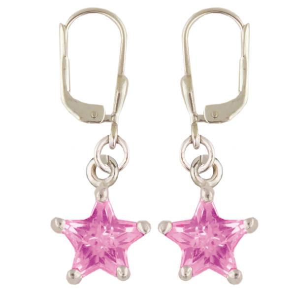 Stern Ohrhänger pink