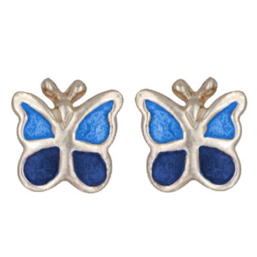Schmetterling dkl./hellblau
