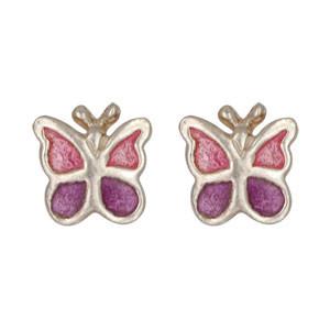 Schmetterling Ohrstecker rosa