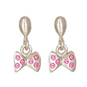 Schleife Ohrhänger rosa