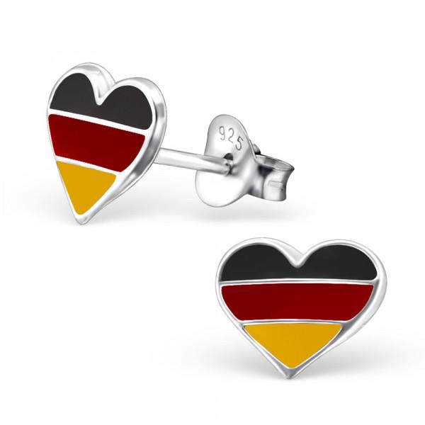 *OS Herz in Deutschlandfarben 925 Silber