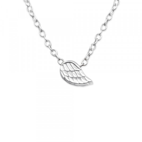 Kette silberner kleiner Flügel 45 cm 925 Silber