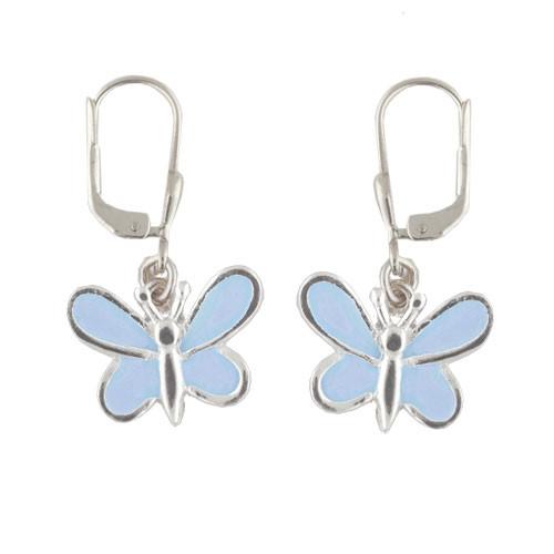 Schmetterling Ohrhänger hellblau