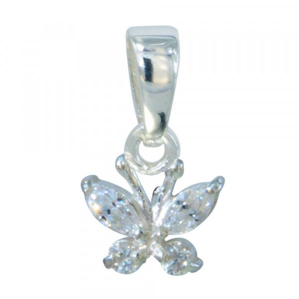 Schmetterling Anhänger aus Kristallen weiß