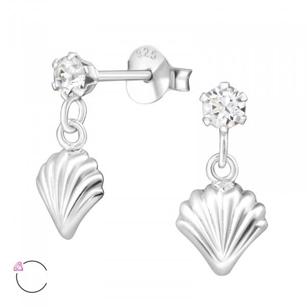 OS Muschel mit crystal Swarvski Elements 925 Silber