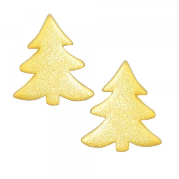 OS mattiert vergoldeter Tannenbaum 925 Silber