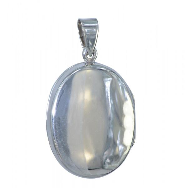 AH Medaillon oval schlicht 925 Silber