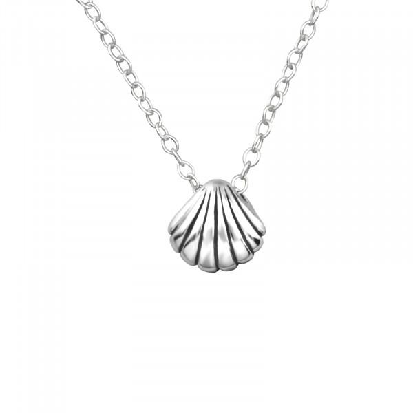 Kette kleine Muschel 45 cm 925 Silber