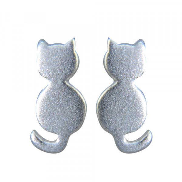 OS Katze gebürstet 925 Silber
