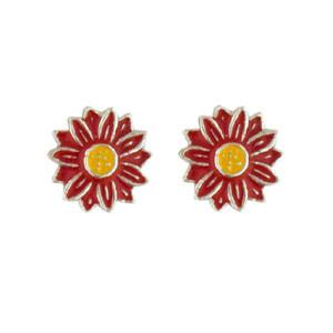 Blüte Ohrstecker rot