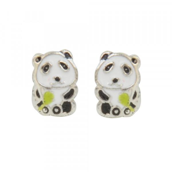 Ohrstecker 925 Silber Panda