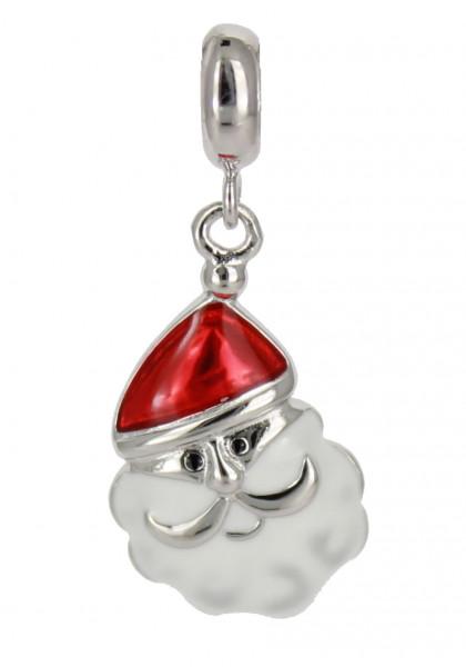 AH Weihnachtsmann Face 3D 925 Silber