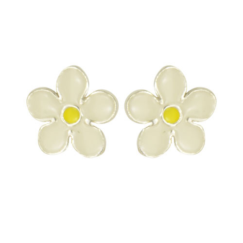 OS Blume weiß/gelb 925 Silber