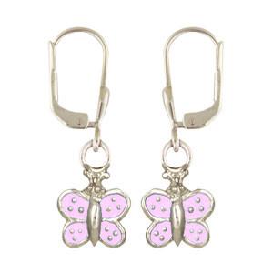 Schmetterling Ohrhänger rosa