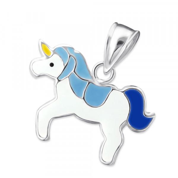 AH Einhorn mit blauer Mähne 925 Silber