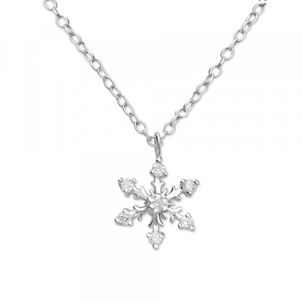 Kette Schneeflocke 45 cm 925 Silber