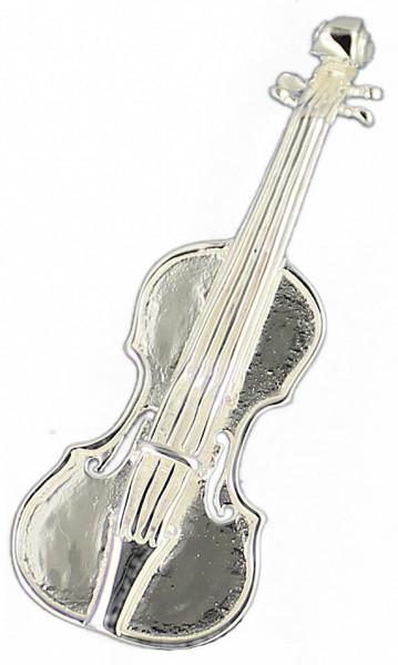 Brosche Violine 40 mm 925 Silber e-coated