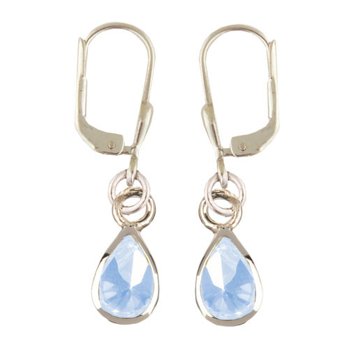 Kristalltropfen Ohrhänger hellblau