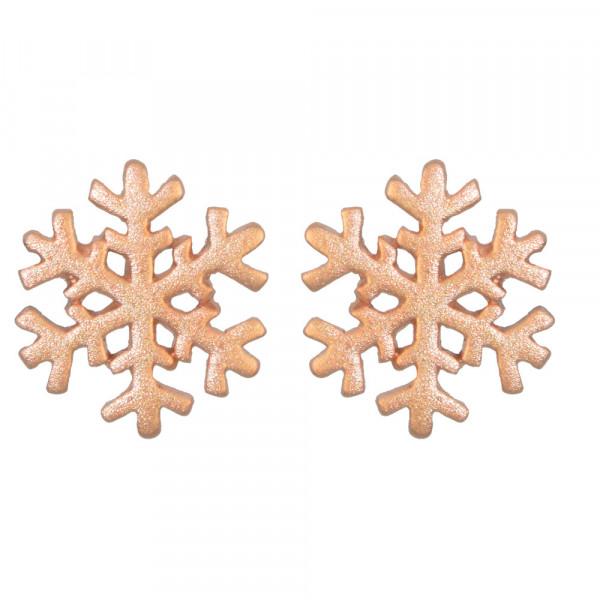 OS mattiert rosé vergoldete Schneeflocke 925 Silber