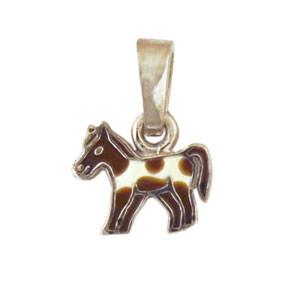 Pferd Anhänger silber und hellbraun