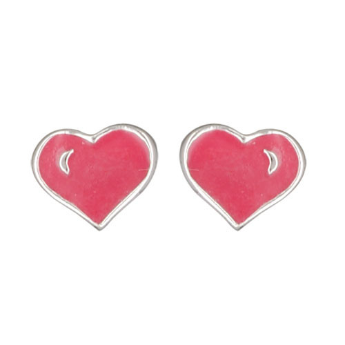 Herz Ohrstecker rosa