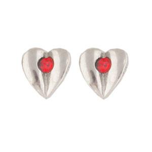 Herz Ohrstecker rot
