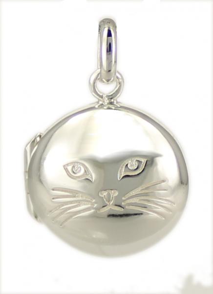 AH Medaillon Katze 925 Silber