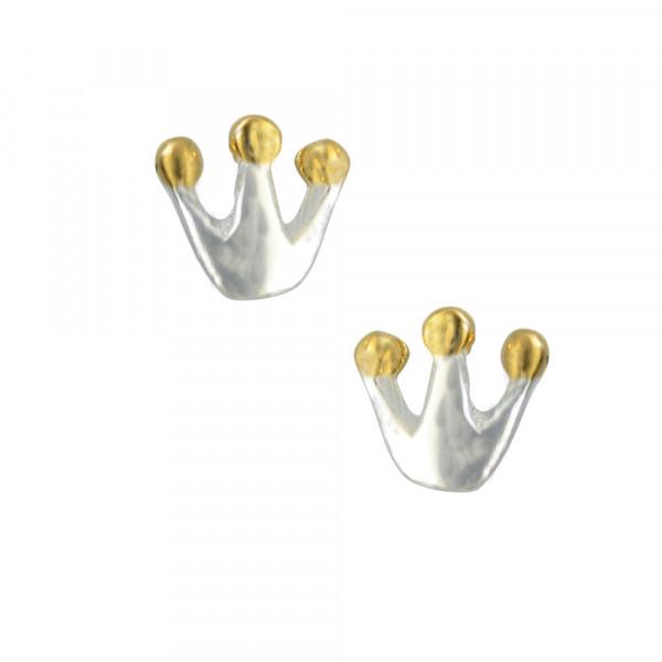 OS kleine Krone vergoldete Spitzen 925 Silber