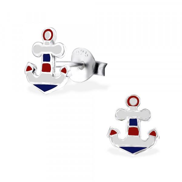 OS Anker blau/weiß/rot 925 Silber