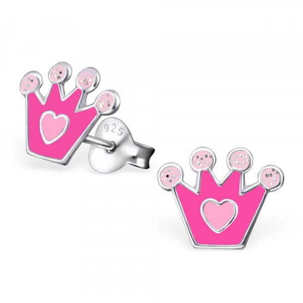 *OS Krone pink mit Herz 925 Silber