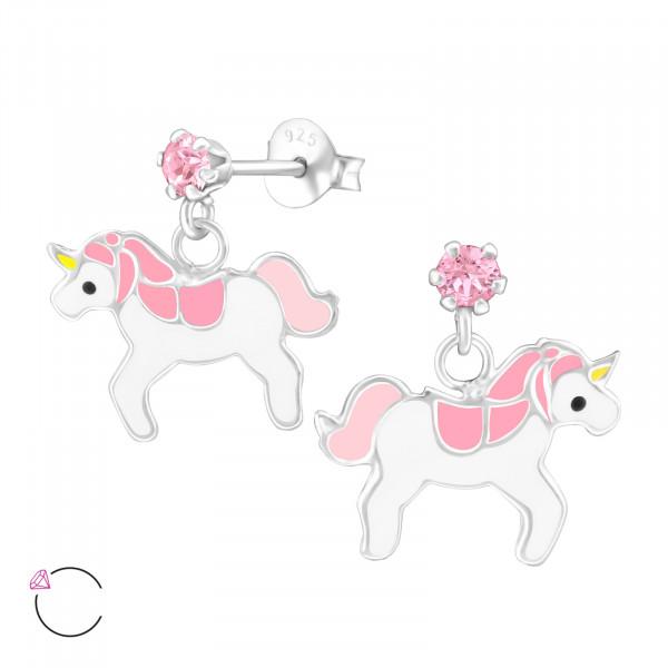 OS Einhorn mit rosa Swarovski Elements 925 Silber