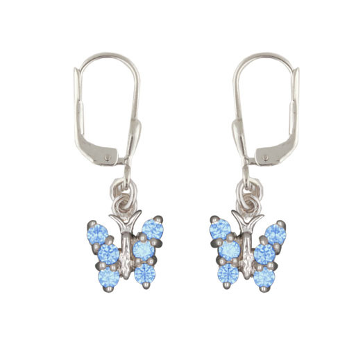 OH Schmetterling mit Kristallen blau
