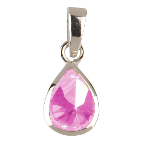 Kristalltropfen Anhänger pink