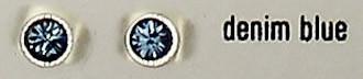 OS denim blue 3 mm with crystals from Swarovski ®