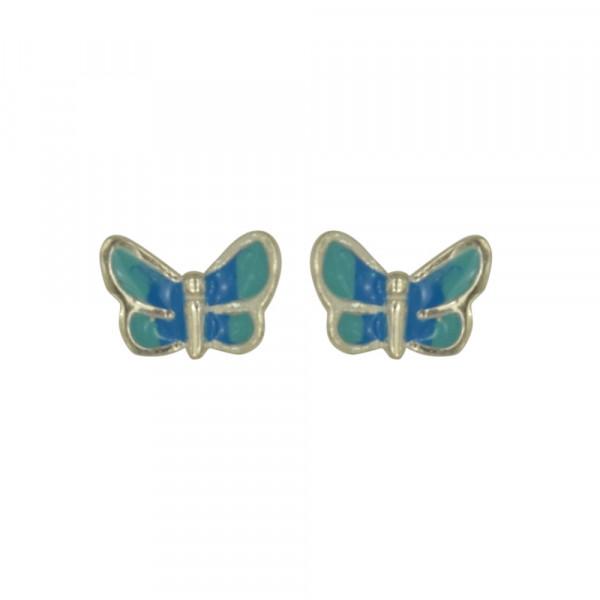 Schmetterling Ohrstecker hellblau-dunkelblau