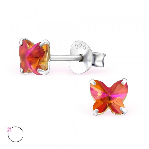 OS Schmetterling astral-pink 6mm Swarovski Elements 925 Silber