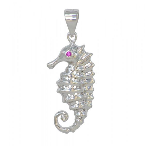 AH Seepferdchen groß 925 Silber rhod.