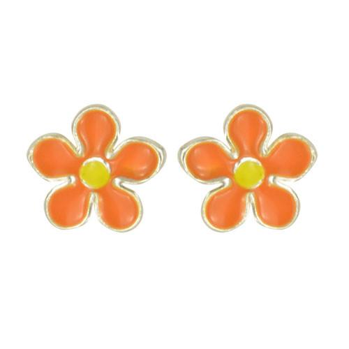 OS Blume orange/gelb 925 Silber