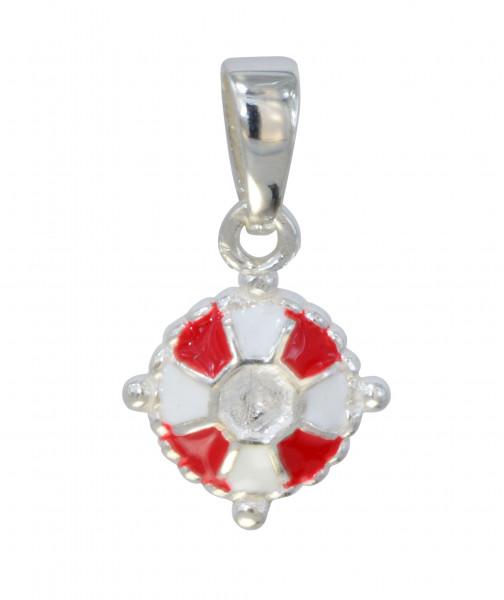 AH Rettungsring rot/weiß 925 Silber