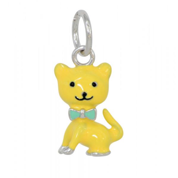 *AH gelbe Katze 925 Silber