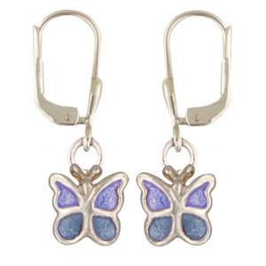 Schmetterling Ohrhänger blau
