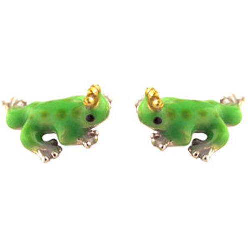 Frosch Ohrstecker grün
