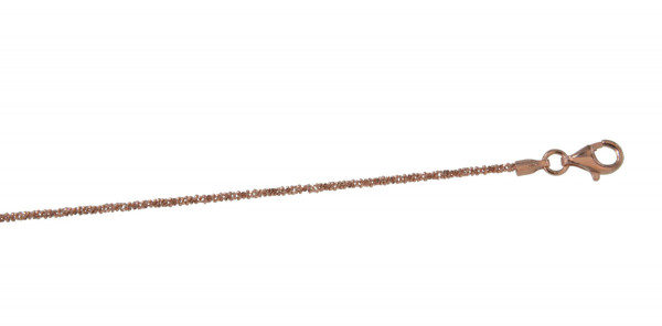 Kette diamantiert rosé vergoldet 2 mm/42 cm 925 Silber