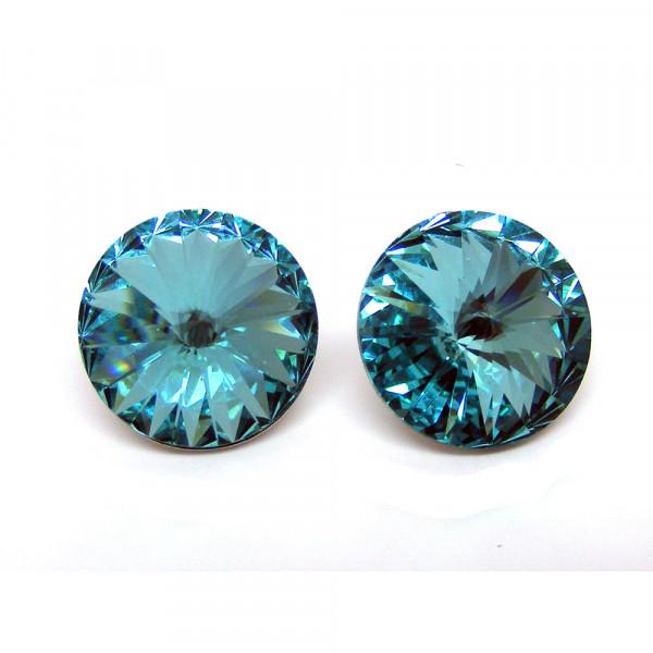 Ohrstecker Kristall light turquoise 6 mm