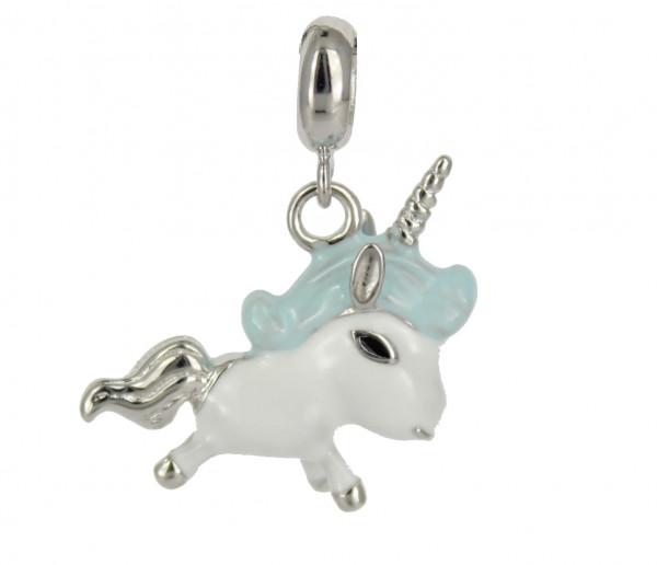 AH bleue Einhorn 3D 925 Silber