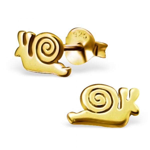 OS Schnecke 925 Silber vergoldet