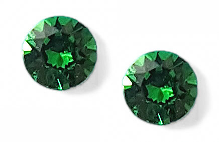OS dark moss green 6 mm with crystals from Swarovski ®