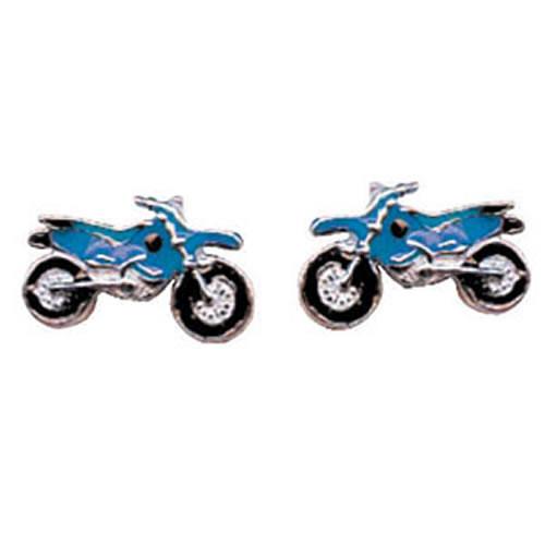 Motorrad Ohrstecker blau