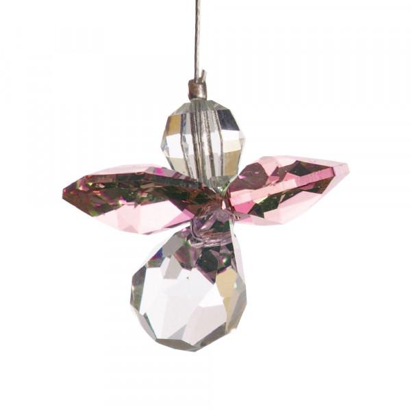 Schutzengel mit Swarovski-Kristall Rosenquarz