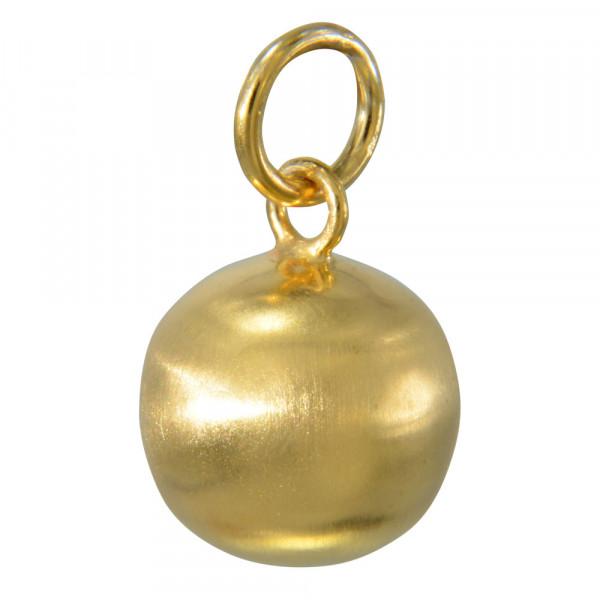 AH Kugel 12 mm vergoldet/mattiert 925 Silber